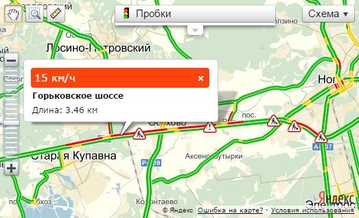 Яндекс пробки м7 владимир москва лакинск - 285