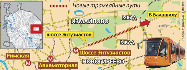 От Москвы до Балашихи протянут